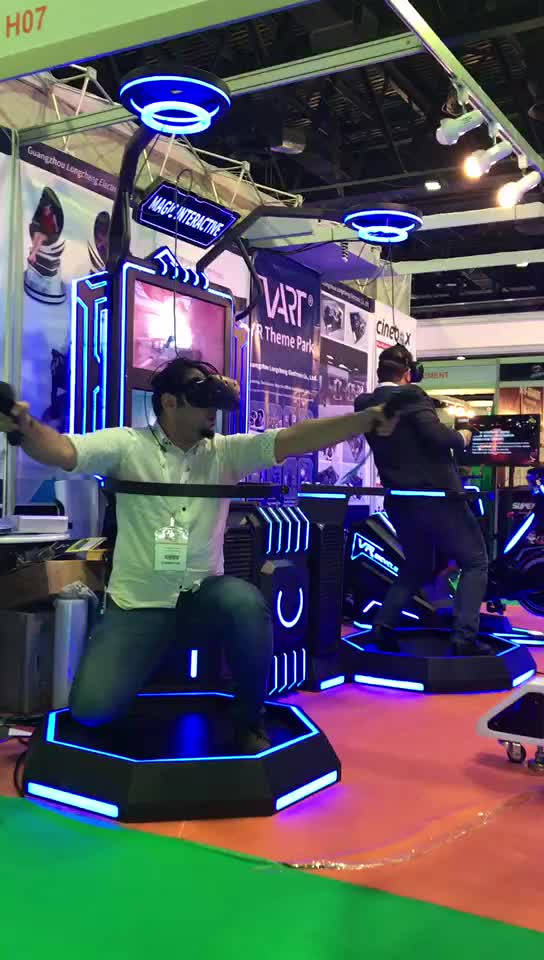Virtual Reality Massively 9D VR Shooting Simulator VR Treadmill Machine with VR Vive Htc Games