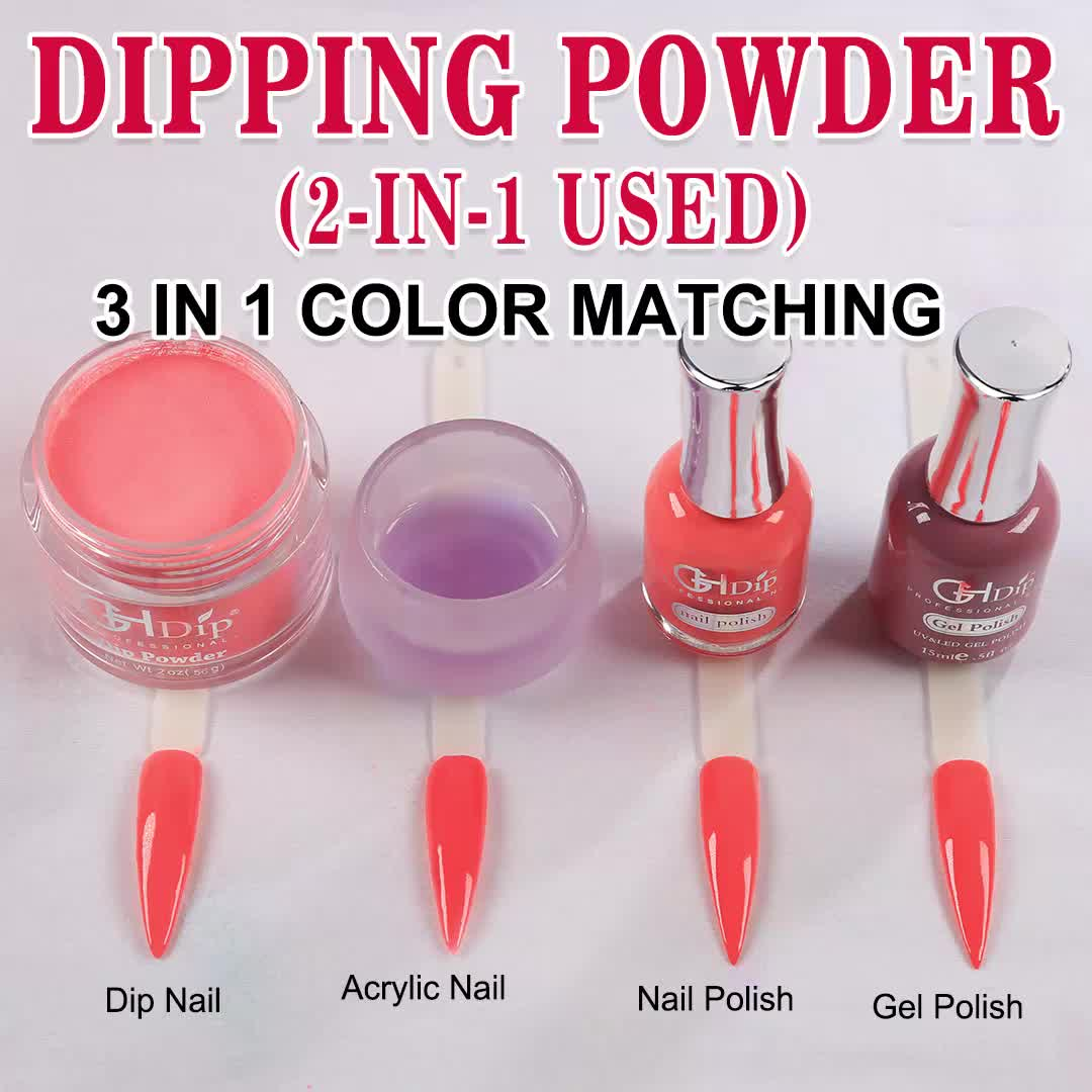 Nude Color Feature 2 in 1 Dipping Powder used for both dip nails and acrylic nails
