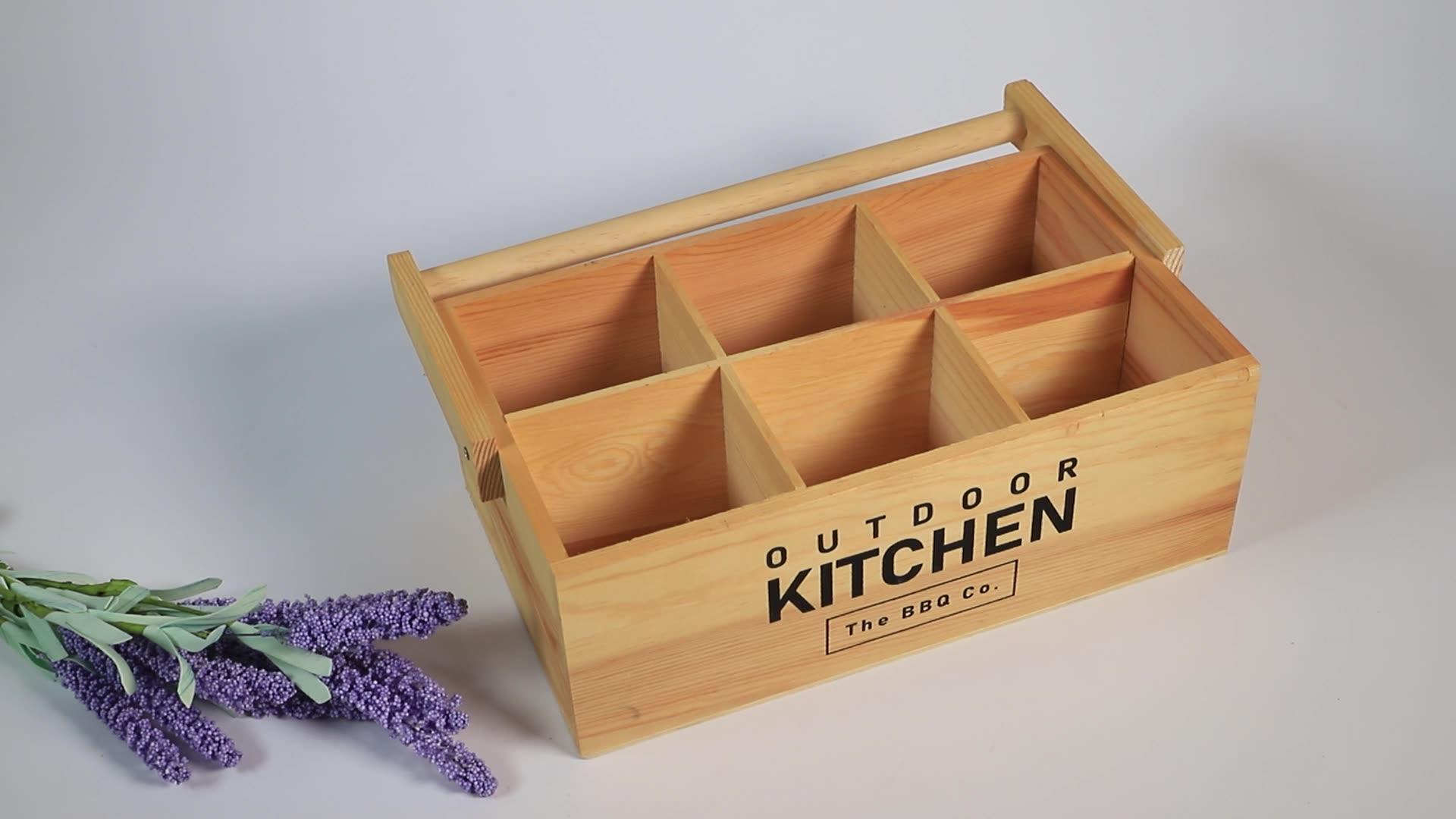 De madera maciza de gestión de caja respetuoso del medio ambiente Natural de Color y poder de organizador
