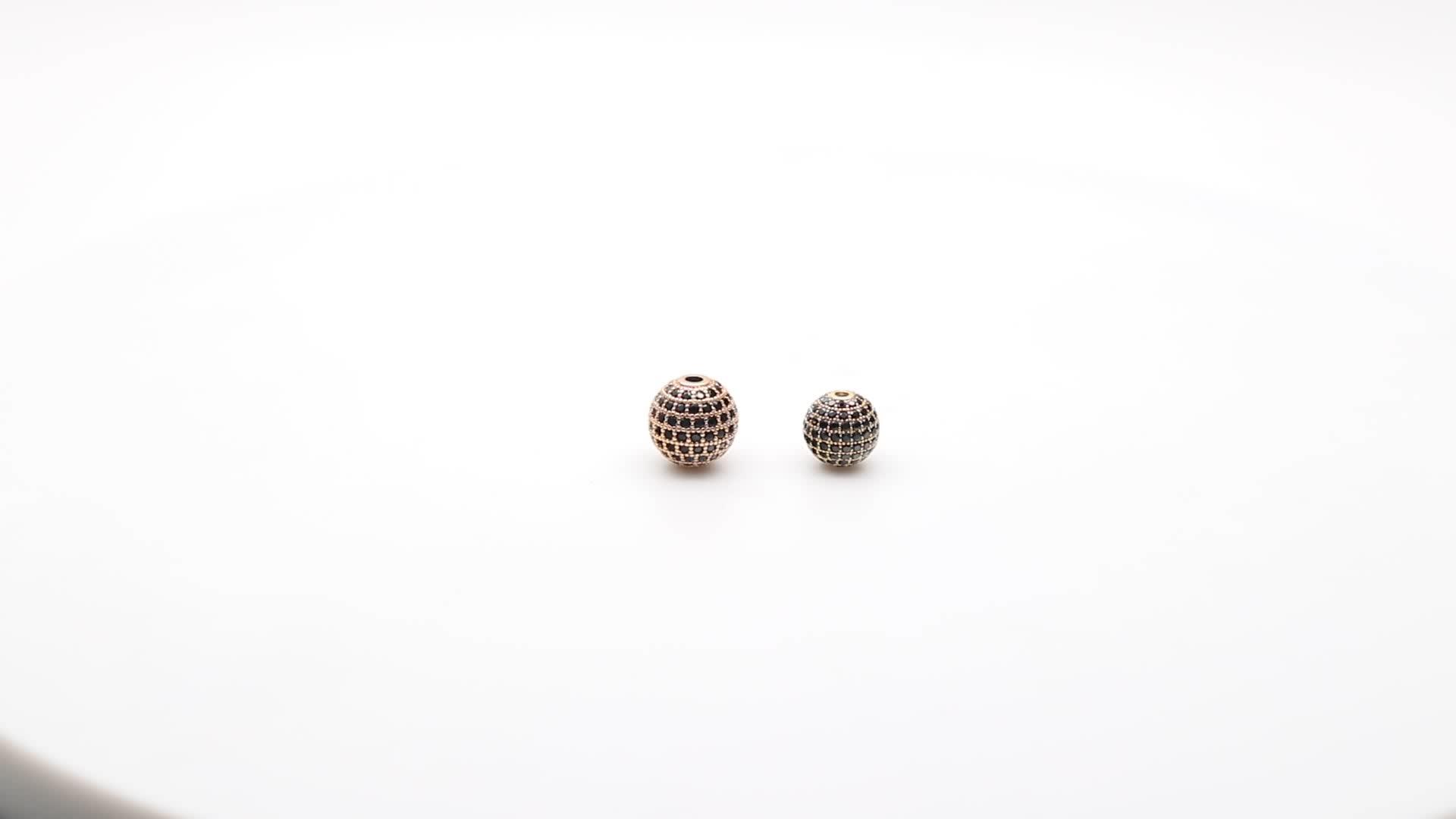 אופנה יוניסקס בעבודת יד טבעי עין נמר צמיד מיקרו פייב CZ זירקון כדור קלוע נירוסטה חרוז צמיד