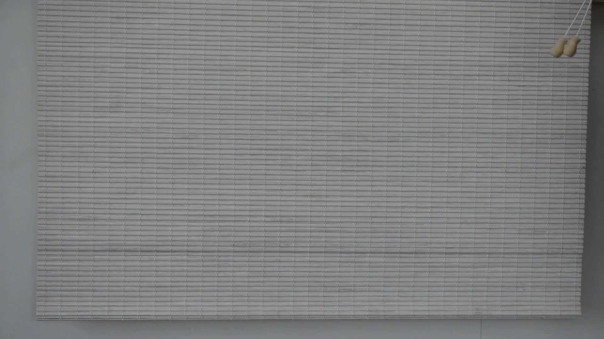 Bamboo Blinds Blackout Overlapping Slats Roman Style Bamboo Shades Rolling Up Natural Made Shutter With Valance No.BB_FS