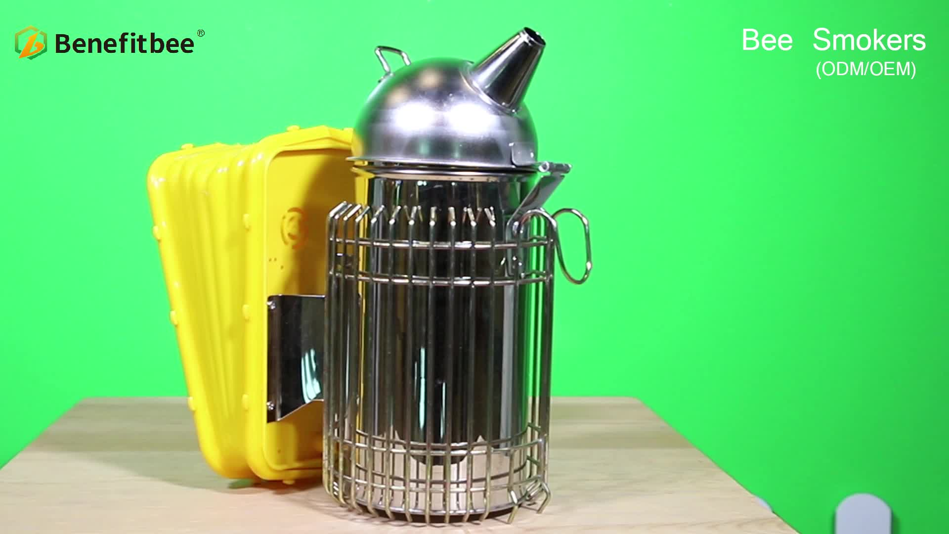 Small round head Beekeeping Tool Stainless Steel Bee Hive Smoker
