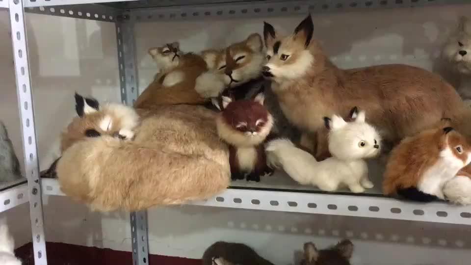 Apresentar um astuto brinquedos engraçados presente de natal novos produtos mini brinquedos de pelúcia raposa