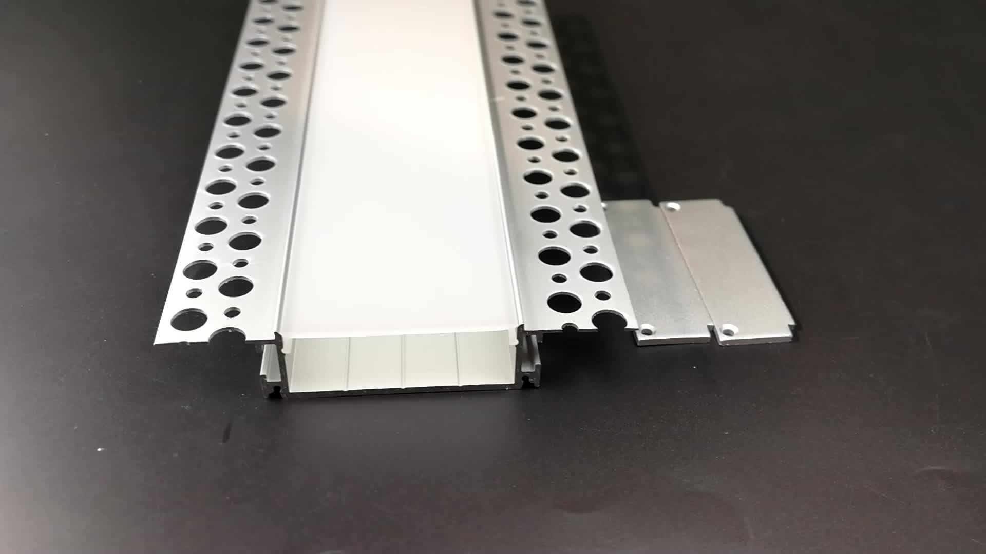 3meter length Plaster Drywall Aluminum led profile channel for 45mm double row led strip 5050/3528/2835/5730