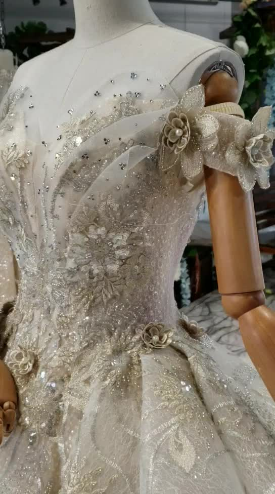 Jancember HTL778 2019 Customized Hand made Big Ball Gown Off Shoulder Brides Dress Wedding Gowns