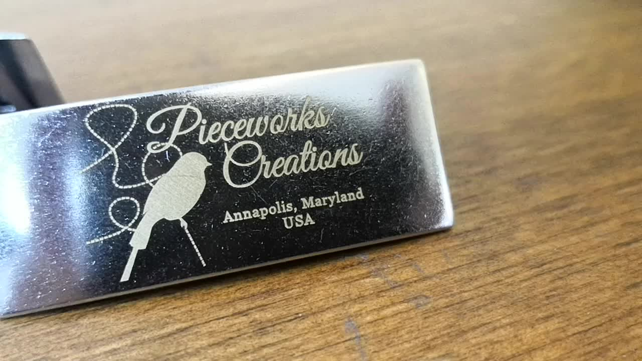 Laser Printing metal Custom Logo Tag Plate with Quality and Professional for Bag wallet Handbag Laptop and Leather Belonging