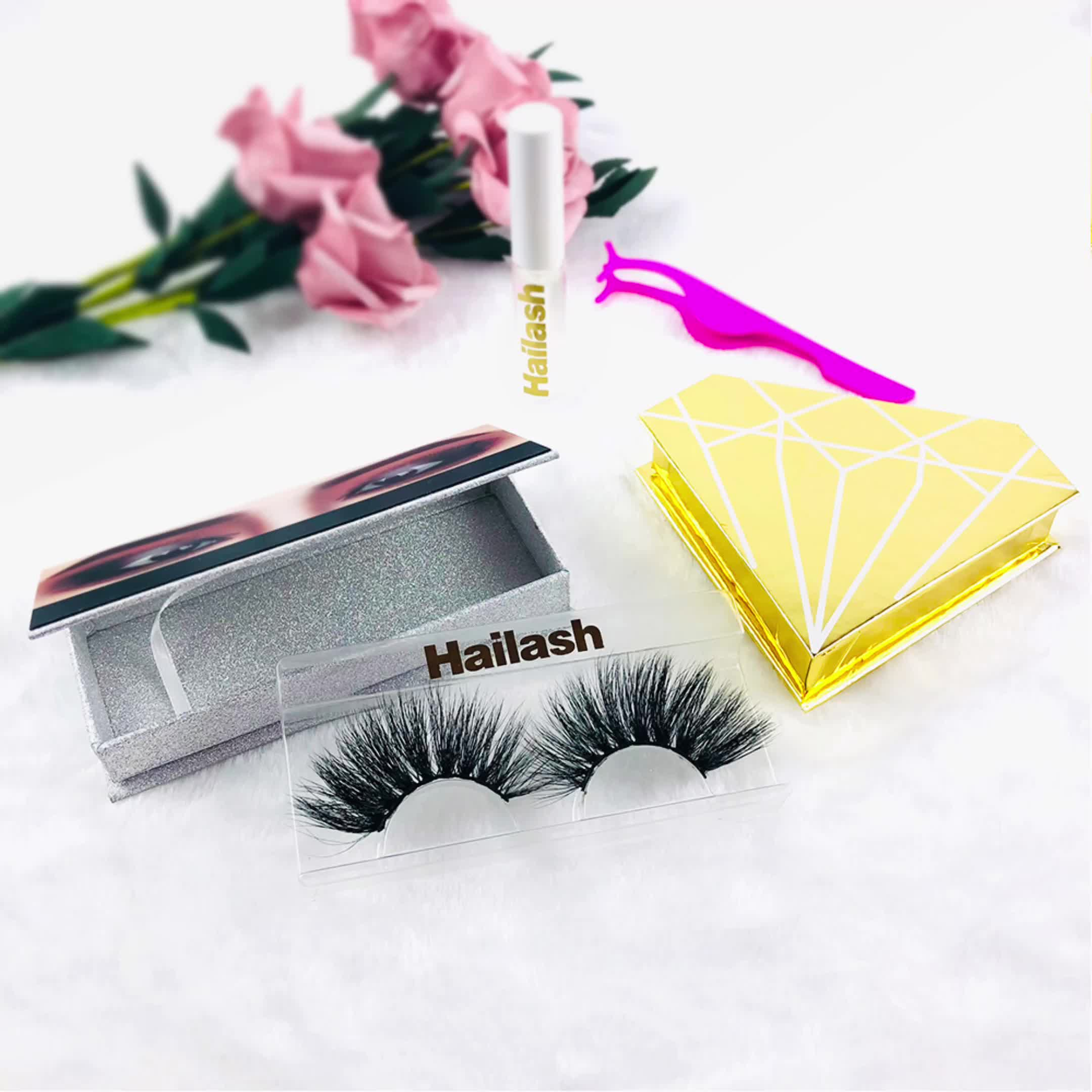 Hot sell wholesale cruelty-free 25mm real mink eyelashes natural long 25mm mink fur eyelashes