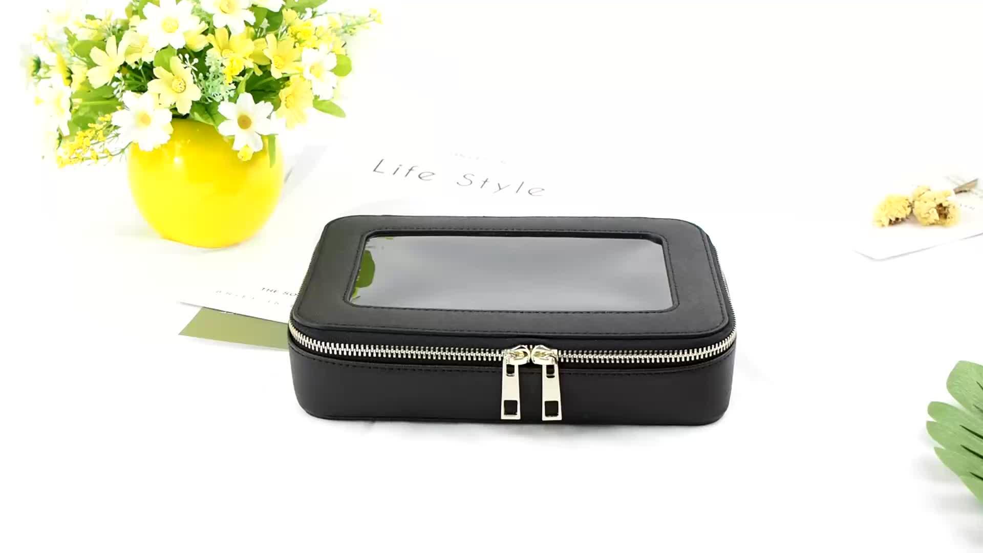 Lüks Kişiselleştirilmiş Şeffaf PVC Deri kozmetik çantası çantası çantası seyahat makyaj çantası