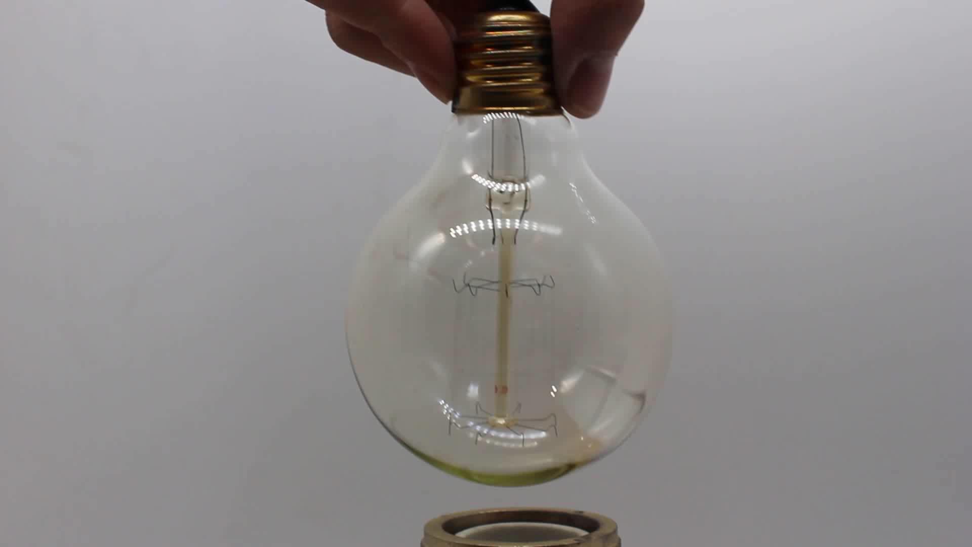 Wholesale E27 Antique globe bulb Vintage Edison Bulb carbon filament bulb classic lamp