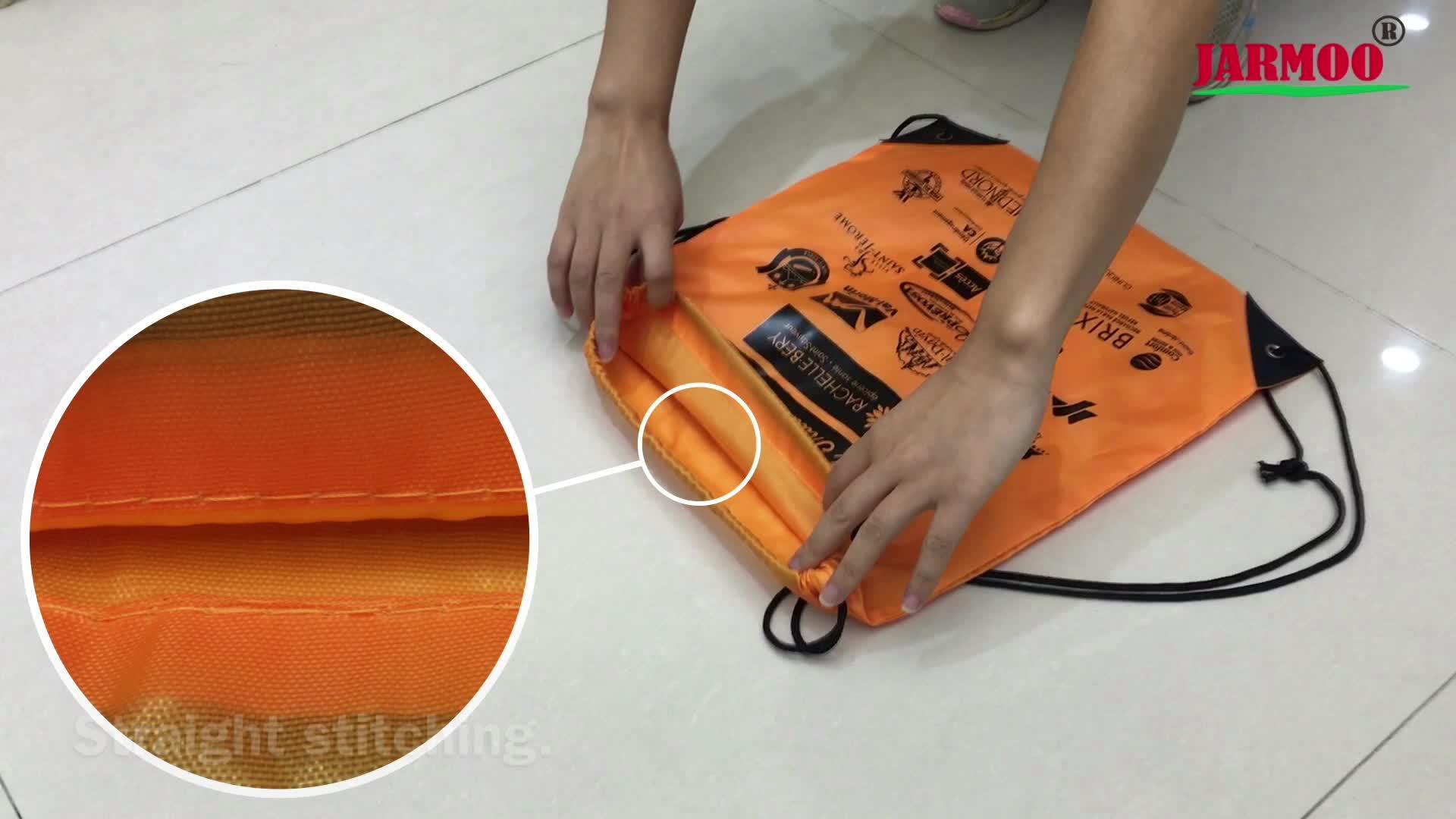 Sac de ficelle de tirage en polyester/nylon d'impression personnalisée