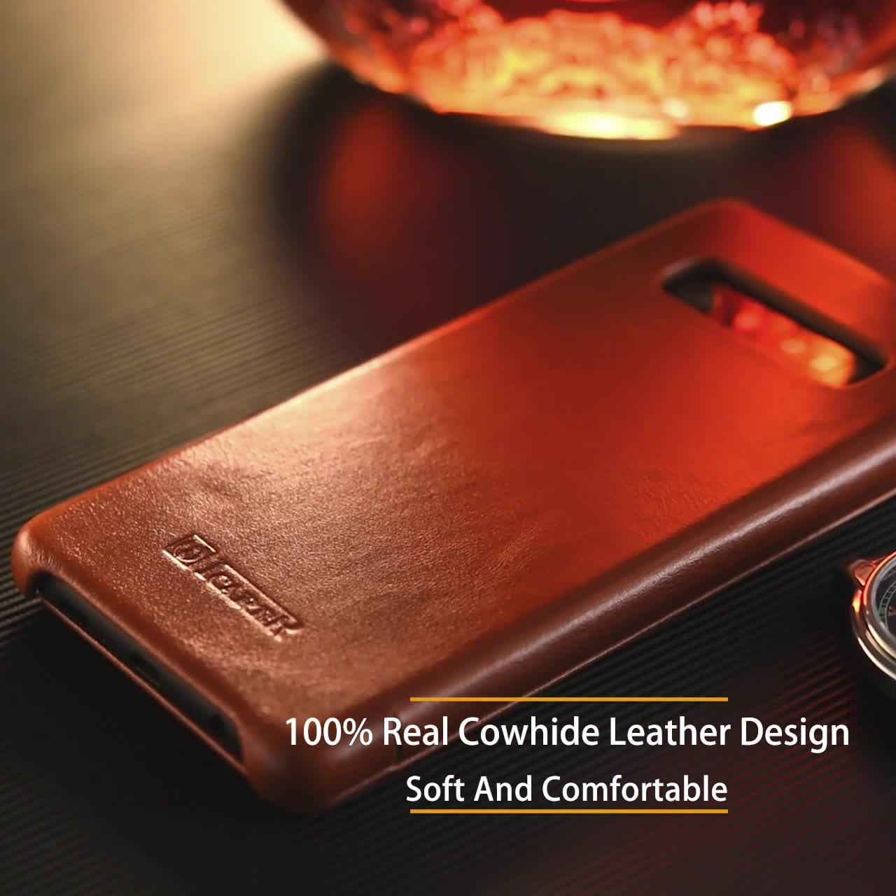 New Arrival Shockproof Genuine Leather Flip Mobile Phone Cover Case For  Samsung Galaxy S10 S10 Plus