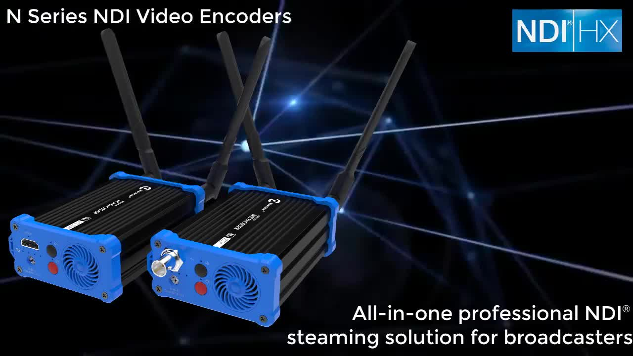 Wireless Camera-mounted Battery-built HDMI to NDI Converter Live Streaming SRT Video Encoder
