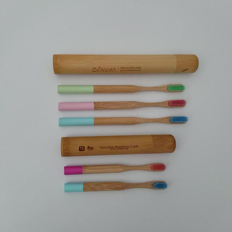 Spazzolino da denti di bambu con custodia biyobozunur bambu diş fırçası bambu muhafaza