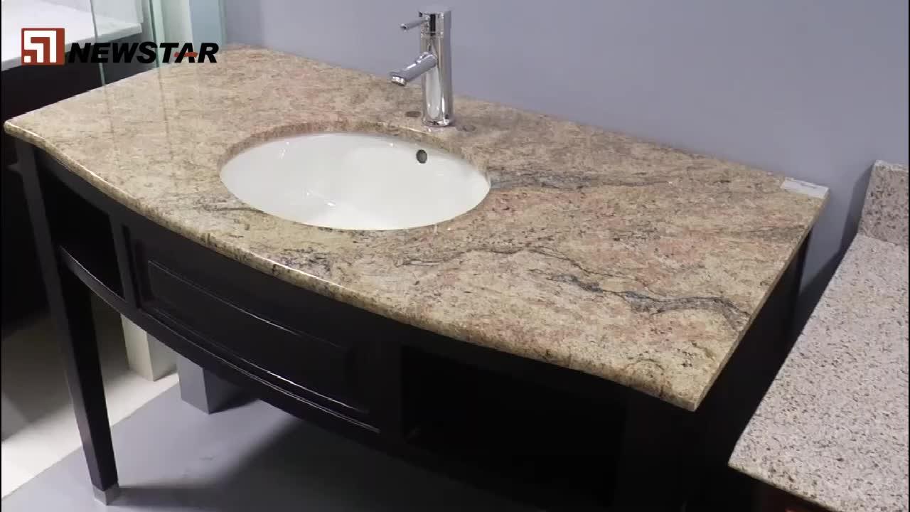 newstar vietnam rust bathroom vanity tops 49x19 yellow glass granite buy vanity tops 49x19