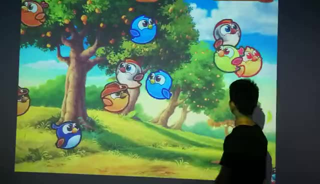 Guangzhou Factory interactive projection games, video game projector