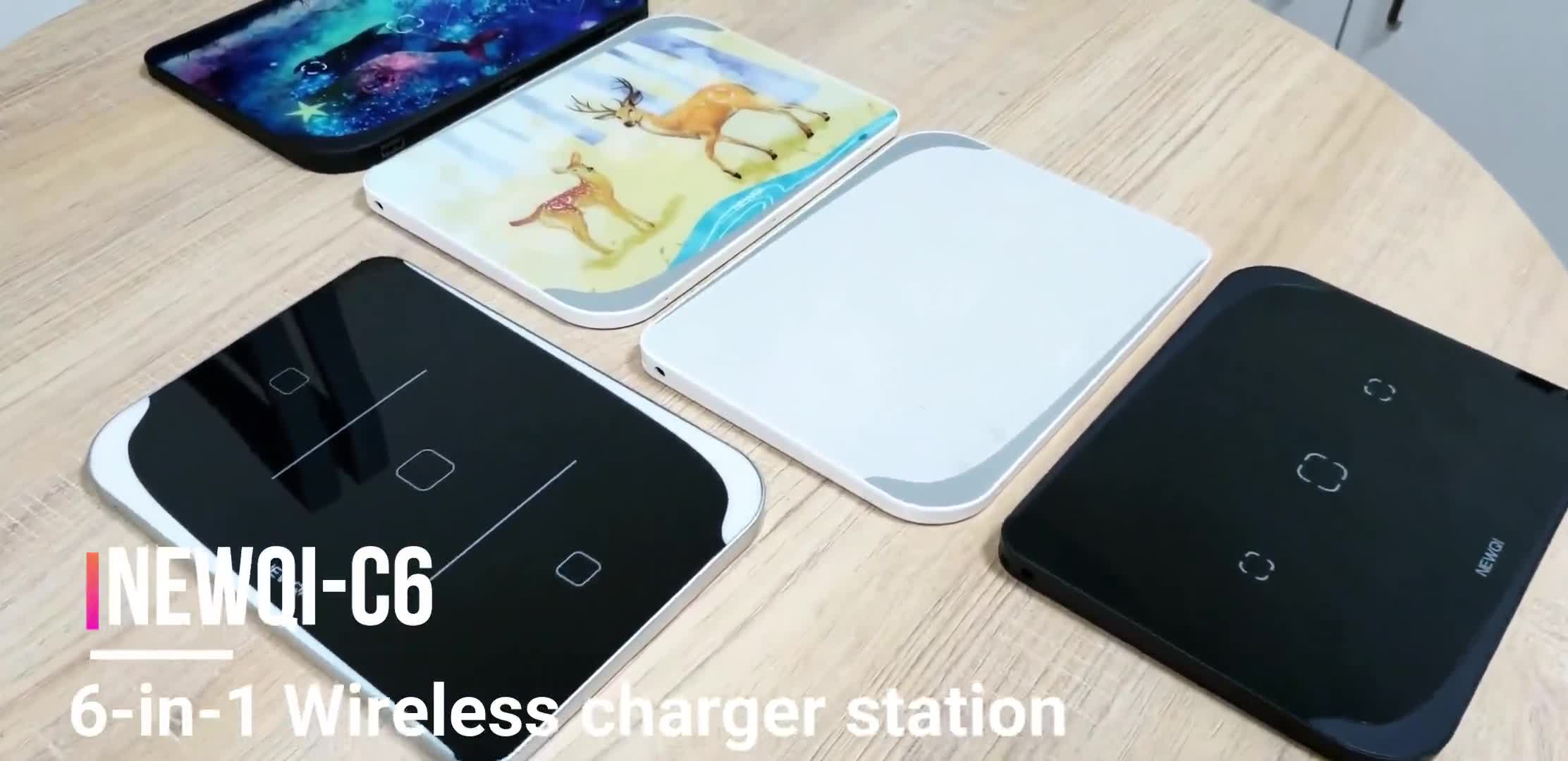 Fast Magnetic Charging Stand Multi Qi DC 12V Station USB Cable Wireless Charger