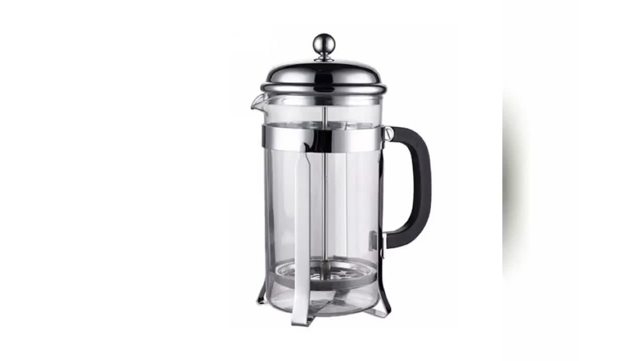 French-style coffee hand pot electric manual coffee pot 360ML,stainless steel coffee pot with lid and handle