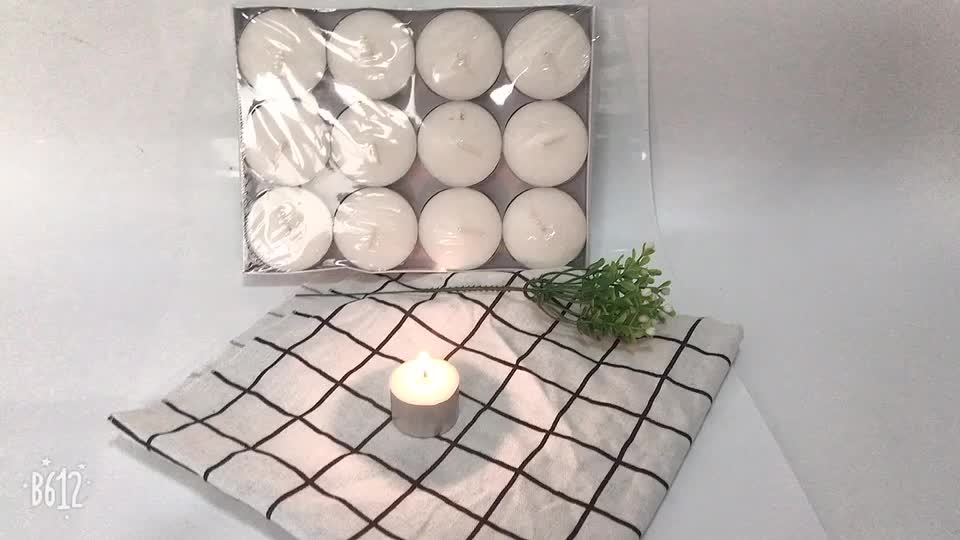 4 Hour Burning Paraffin Wax Scented Red Mini Non-toxic Tealight Candles
