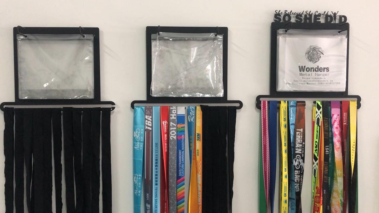 Medal hooks for runners bib holder running medals