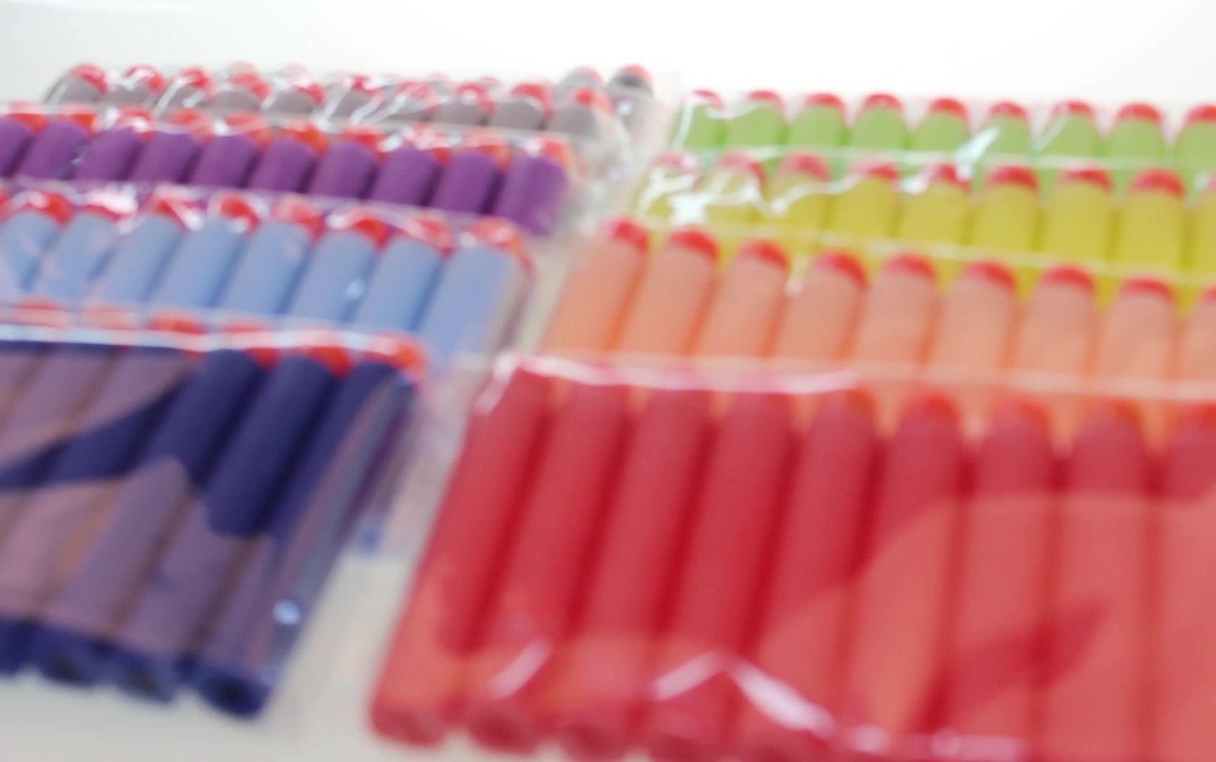 卸売エアソフトガン子供おもちゃ銃eva弾丸7.2センチ詰め替え泡弾丸ダーツ