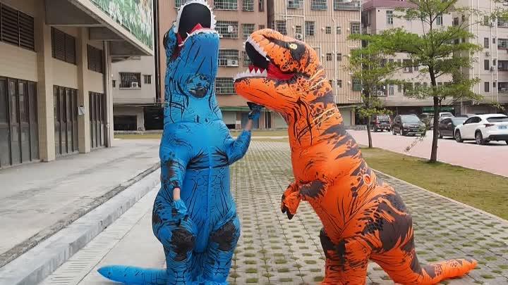 ฮาโลวีนผู้ใหญ่ t rex ไดโนเสาร์เครื่องแต่งกาย