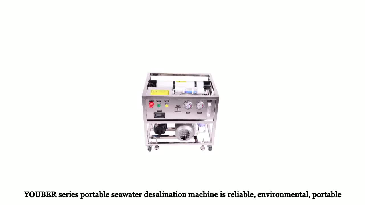 RO seawater desalination system for boat yacht or resort hotel