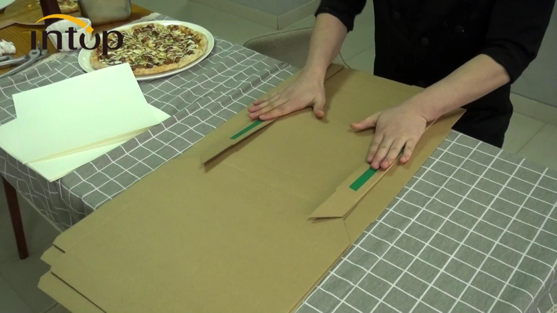 Pizza kutuları gıda sınıfı kraft hamuru kutuları. 4 cm yüksek ve 100 kutuları özelleştirilebilir. Var 9,10, 1214 kutu stokta.