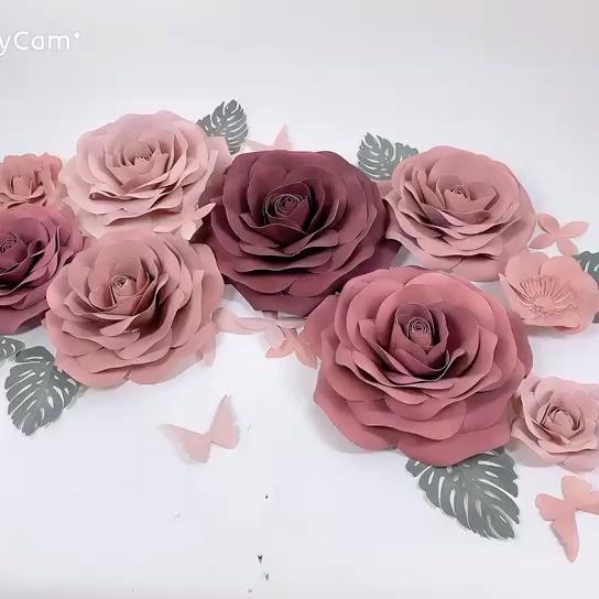 BEI-067 Hohe qualität handgemachte wand hintergrund dekoration riesen papier blume