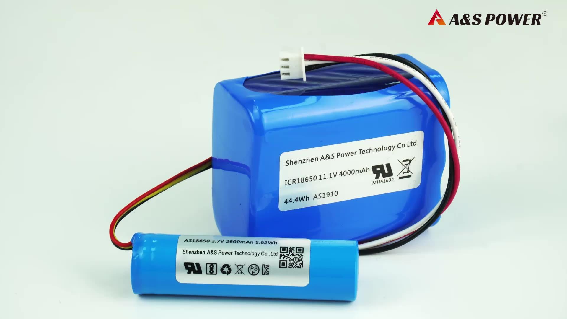 UL2054 CB BIS KC Certificado de batería Li-ion 18650 de 3,7 v 2600 mah batería recargable de iones de litio de la batería celular para ventilador