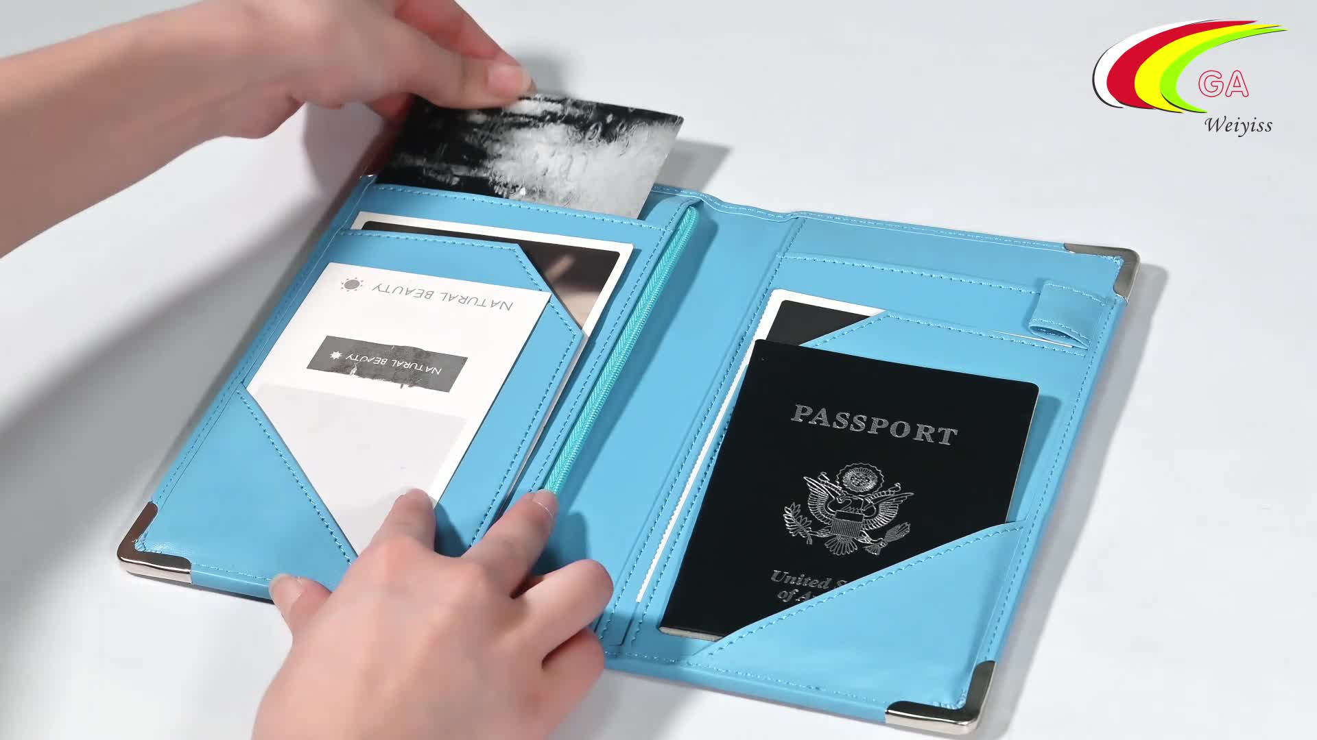 Wholesale Personalized Cheap Custom Logo Travel Wallet Leather Passport Holder