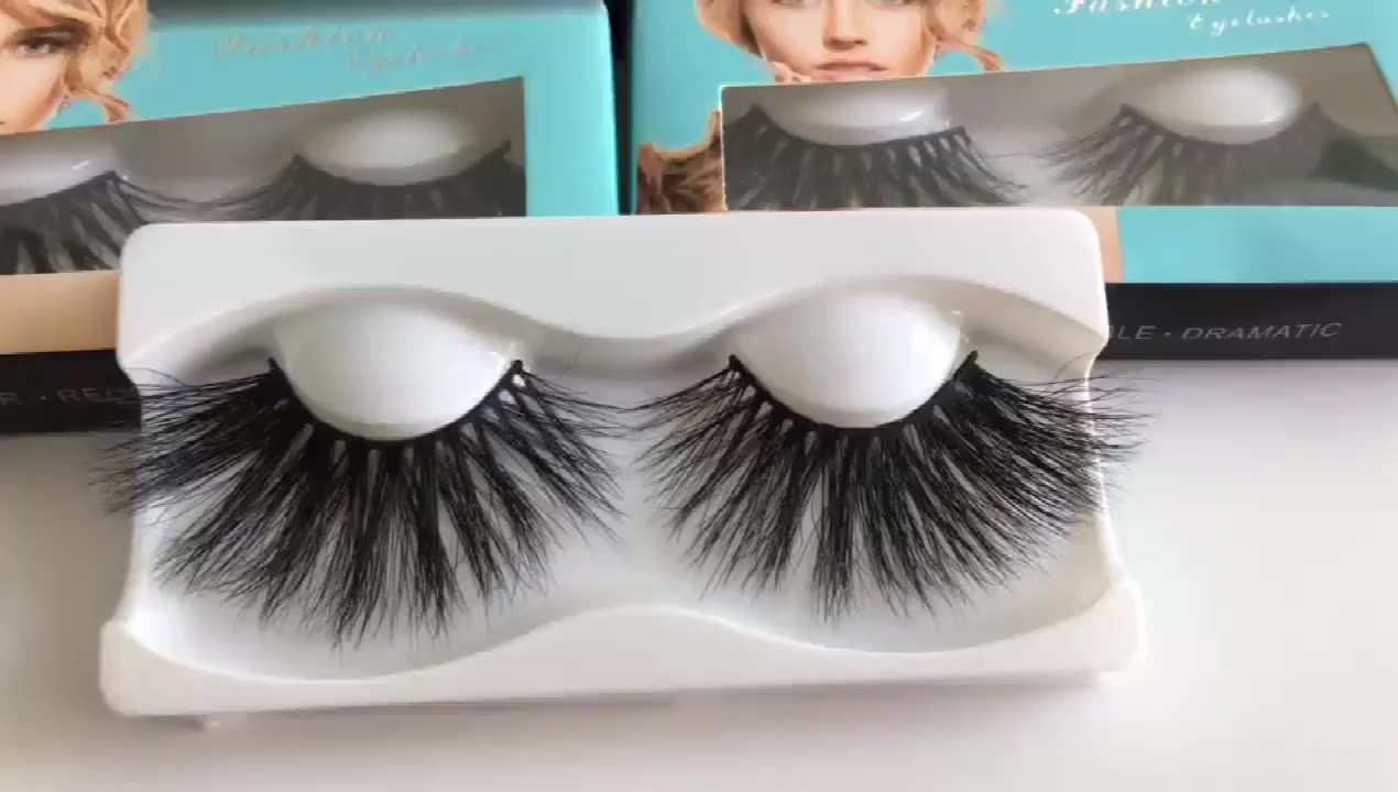 Customize Wholesale Individual Packaging 3D 25mm mink Eyelashes Private Label