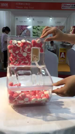 plastic candy containers bulk nut coffee bean spice cereal dry food bin candy bin with scoop