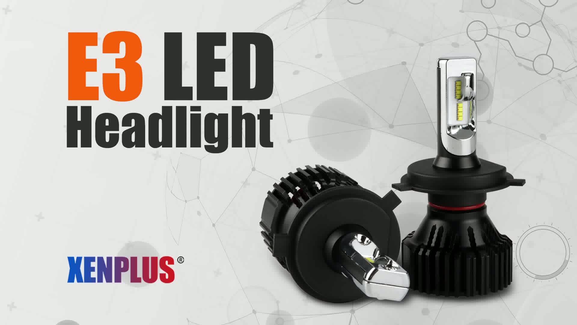 Zes Chip Car Head Lamp E3 Led Headlight Auto Car PSX26 led headlight