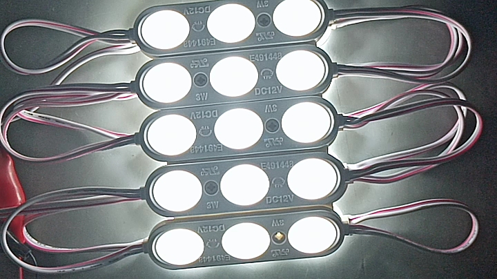 Outdoor Waterproof high power led  module  LED SMD2835 3leds lens module  big degrees for sign and  light box use