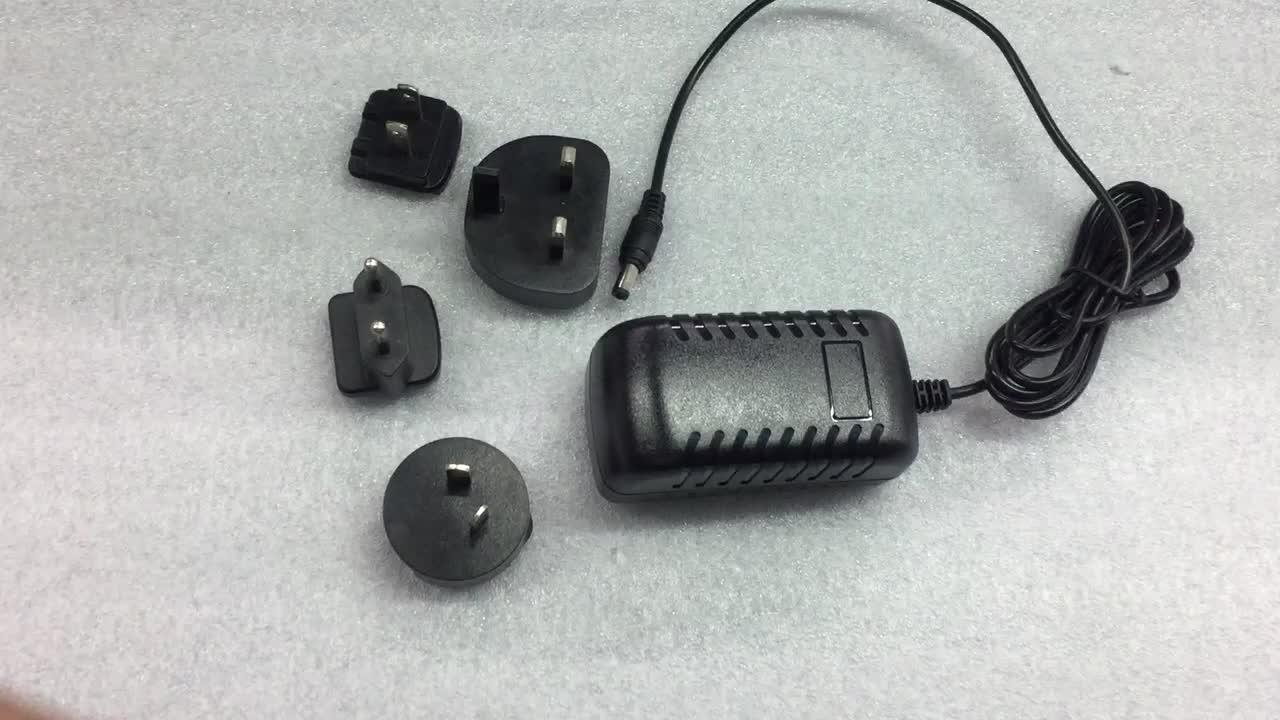 CE CUL KC SAA AU UE REINO UNIDO EUA Adaptador Dc 5 6 9 12 15 19 24 v volt 0.5 1 1.5 2 2.1 2.5 3 amp Plugue Intercambiável Ac Power Adapter