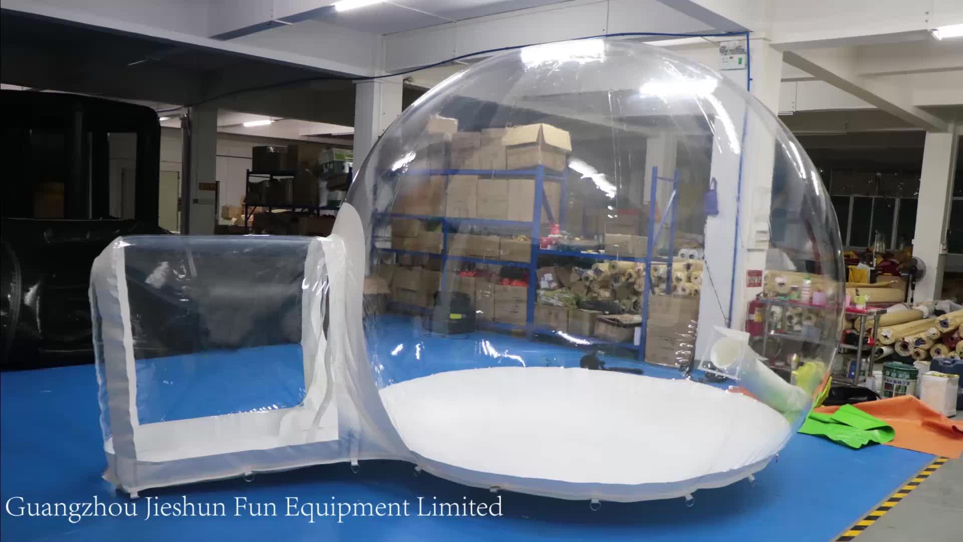 Vente chaude camping tente maison en plein air Igloo bulle tente gonflable dôme bulle neige globe tentes pour le camping