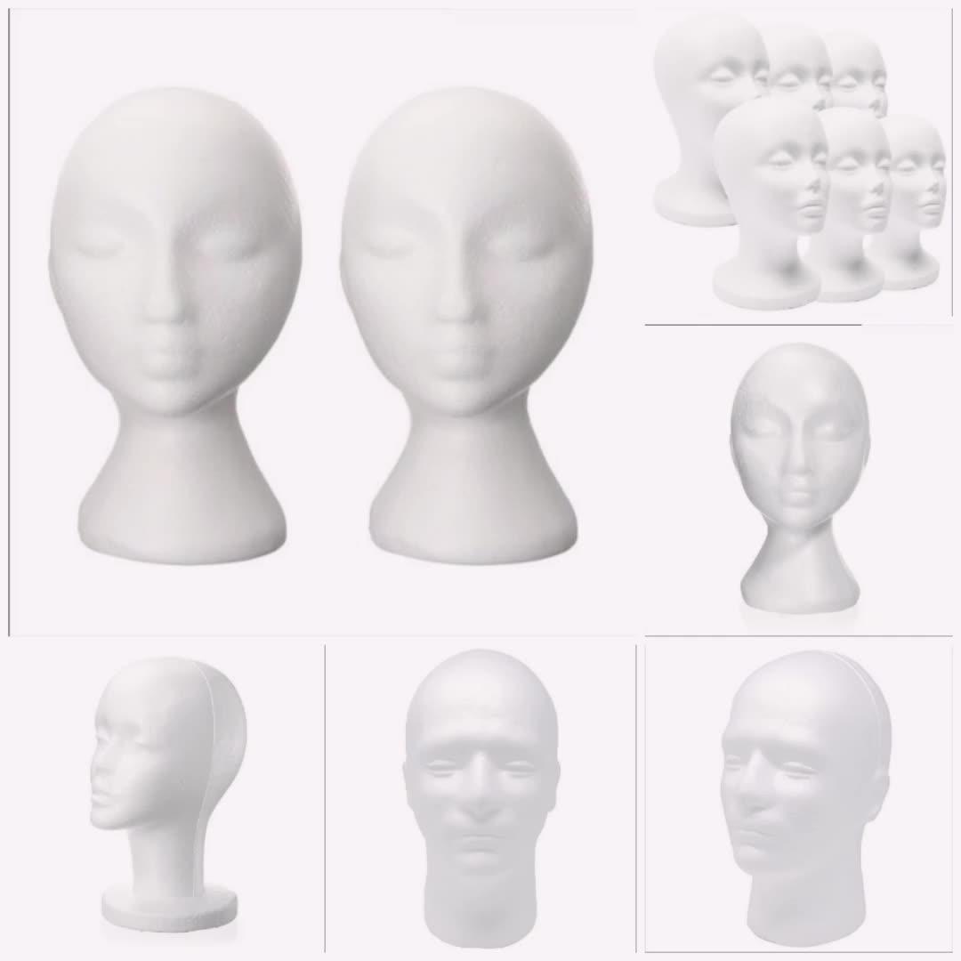 EPS materiale di Alta qualità del commercio all'ingrosso di plastica espansa schiuma Mannequin Modello di Teste