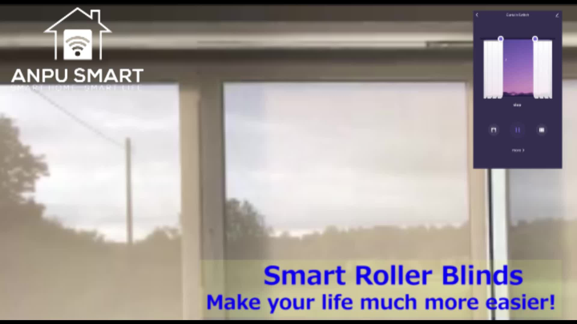 ANPU Tuya Cloud Factory Directly Supply Motorised Roller Blinds Motor Up and Down Type for Smart Home with CE ROHS