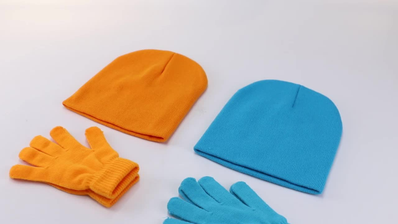 wholesale solid candy color knitting hats custom logo warm wool beanies