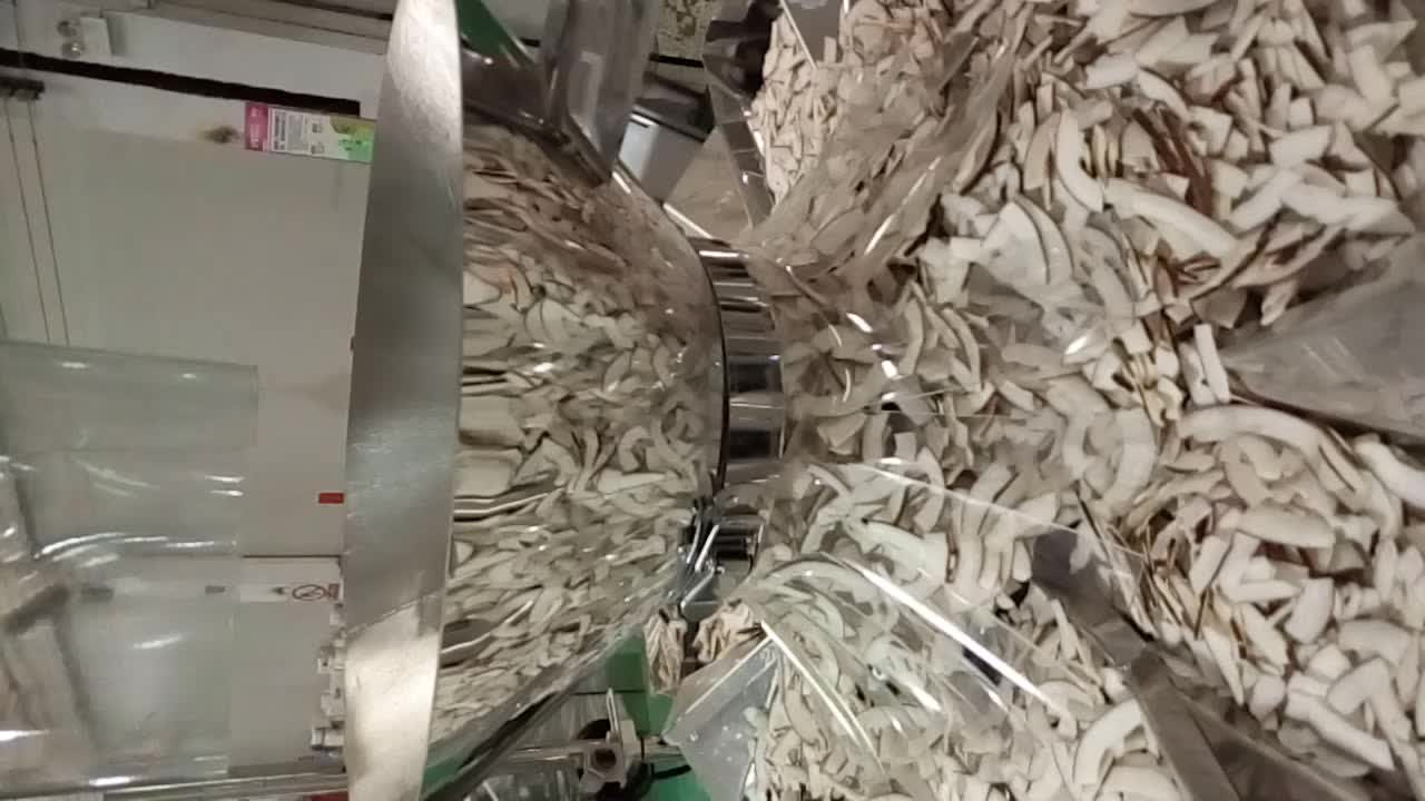 10-800 g vffs form fill seal chips cashew nut candy snack packing machine