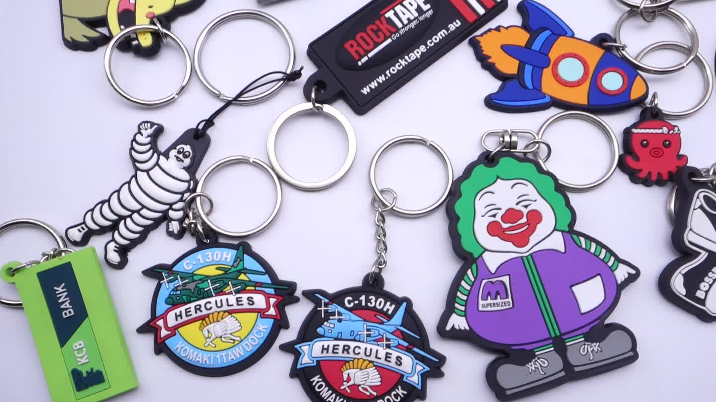 Custom 2d soft pvc keychain key chain logo/Soft Rubber Keychains/Silicone Keyring Rubber/Personalized Key chain 3d customized