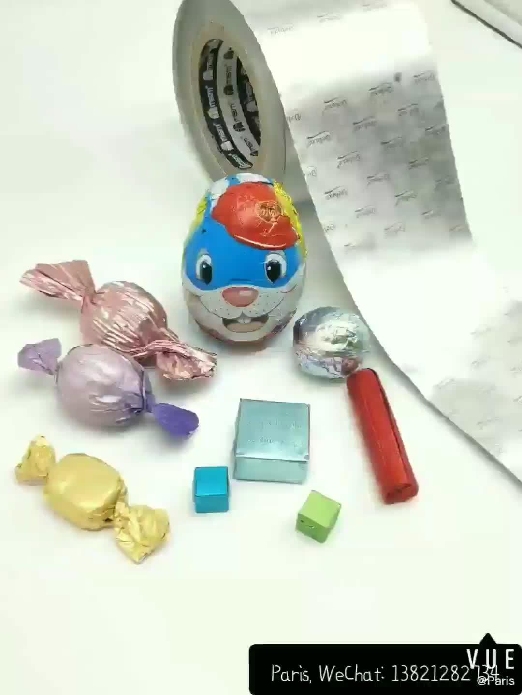 Schokolade Wrap Papier Ausgekleidet Aluminium Folie Verpackung
