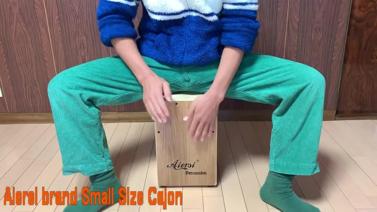 Aiersi percussion Hand colour children Cajon drum wooden box