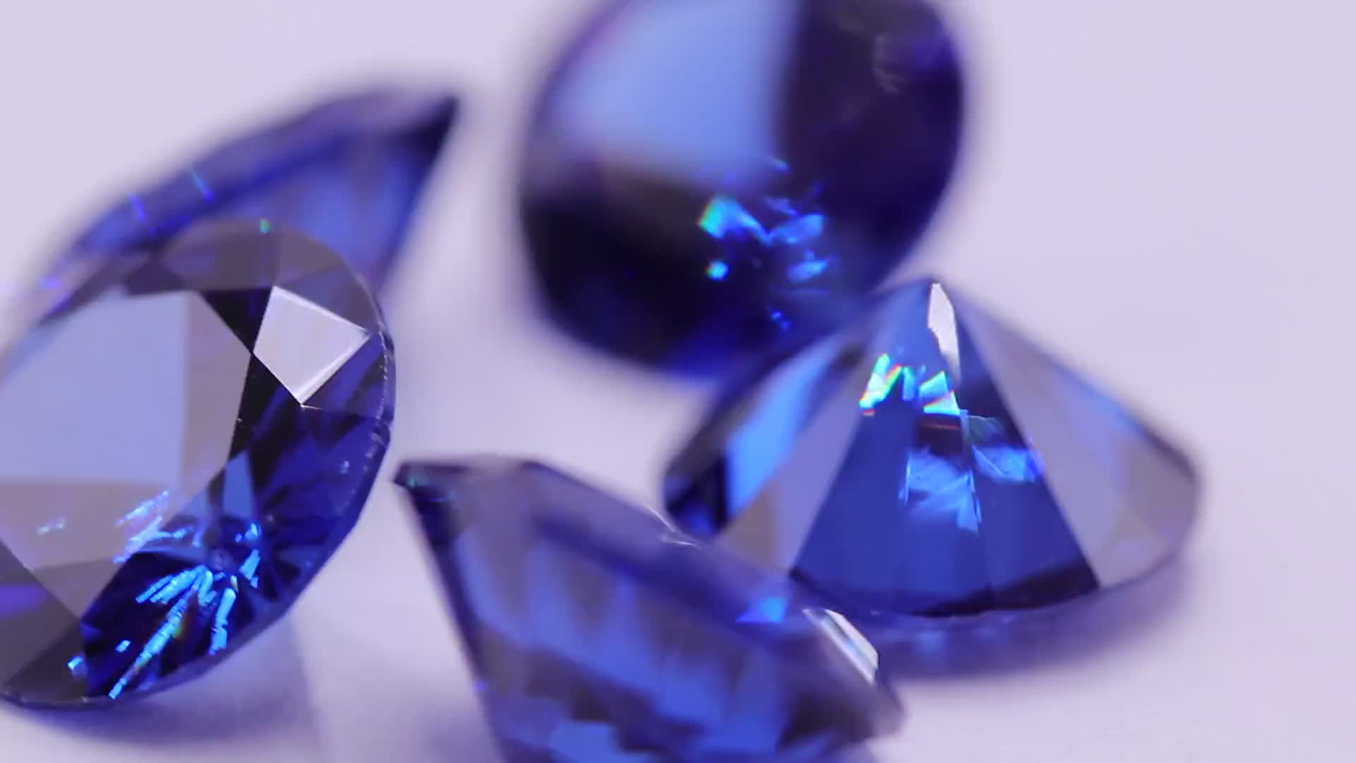 Factory price supplier tanzanite round shape synthetic crystal zirconia stone