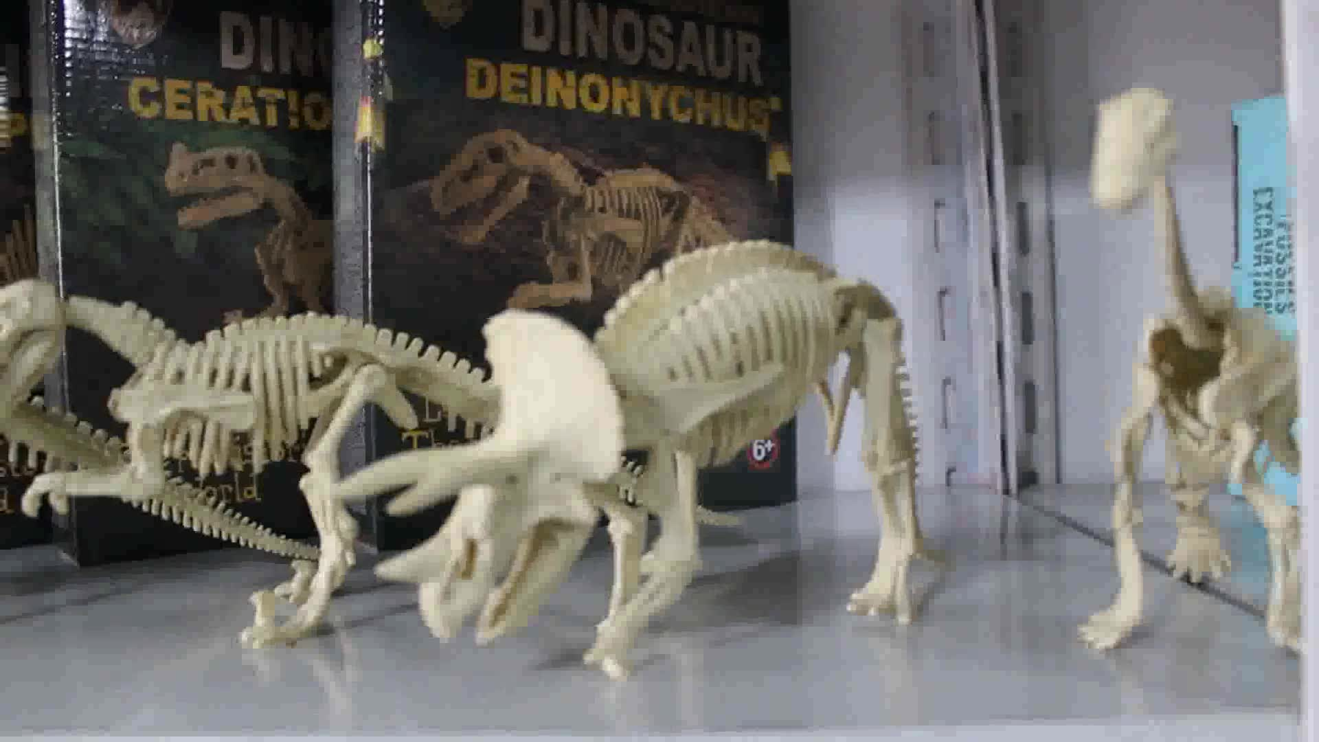 简装9款拼装恐龙考古挖掘玩具 侏罗纪主题公园科教益智活动礼品