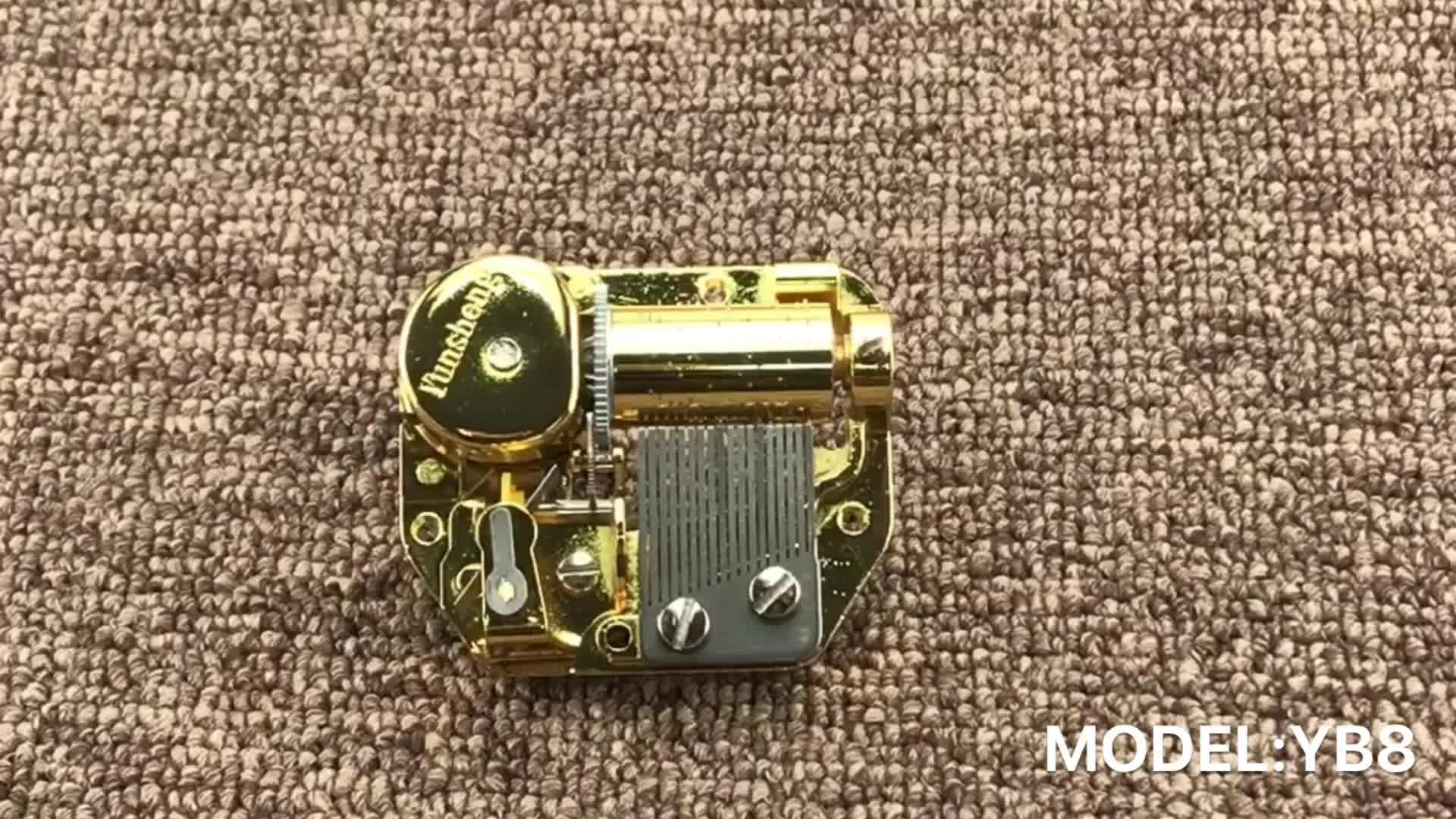super nice gold color custom music box arts