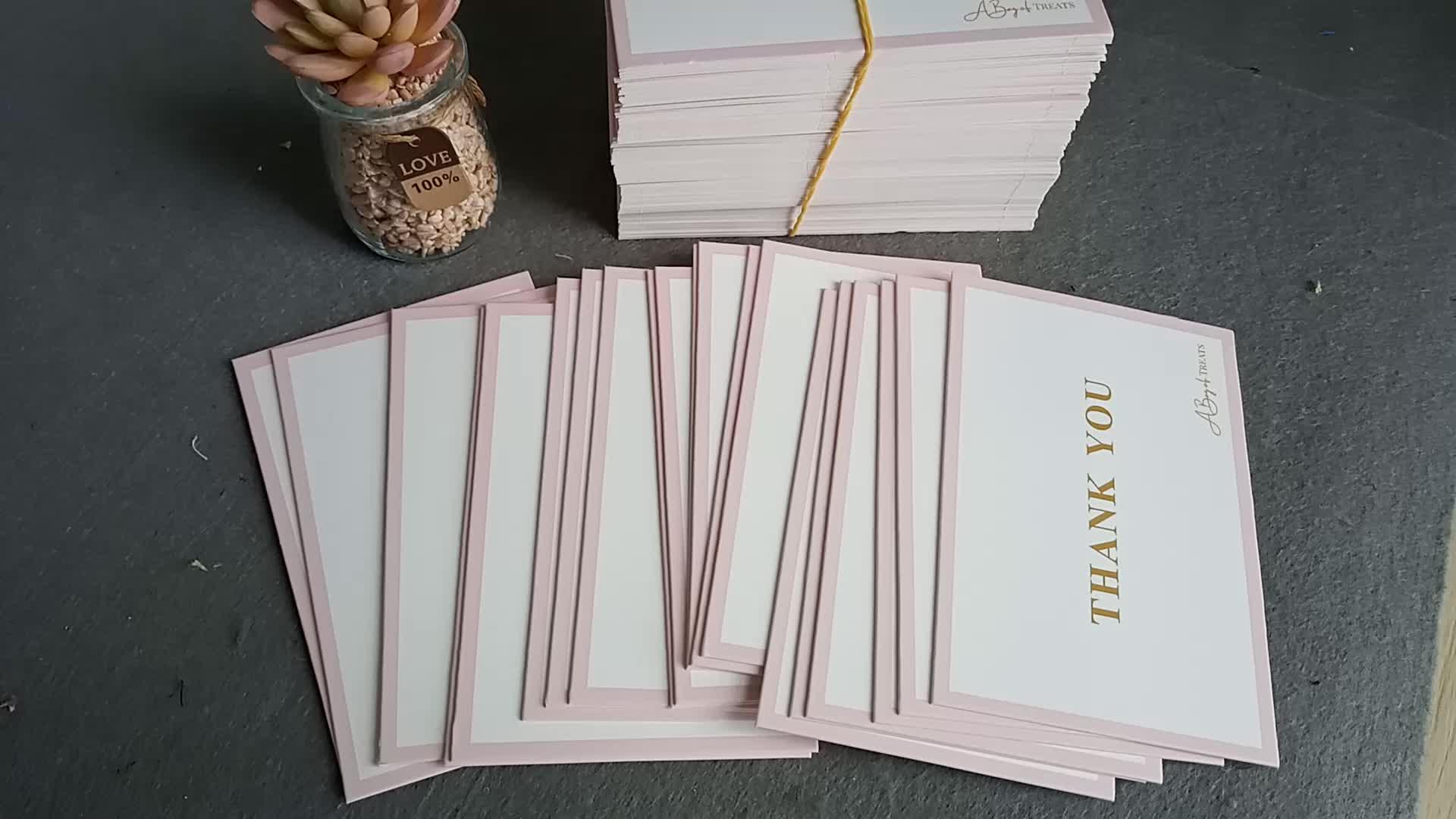 2019 Novo Estilo de Design Personalizado Personalizado Cartão de Agradecimento Cartão