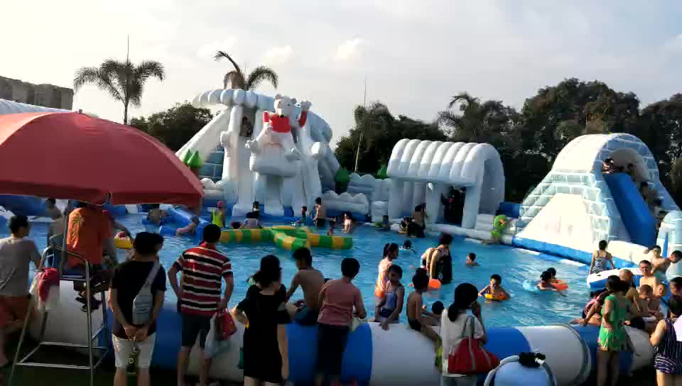 New Design Outdoor Commercial Inflatable Ground Water Park
