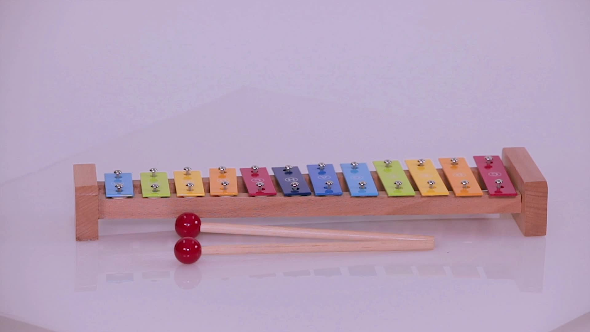 Quality Kindergarten Professional Orff Children Percussion Instrument Toys Colorful 12 Key/Tone Metallophone
