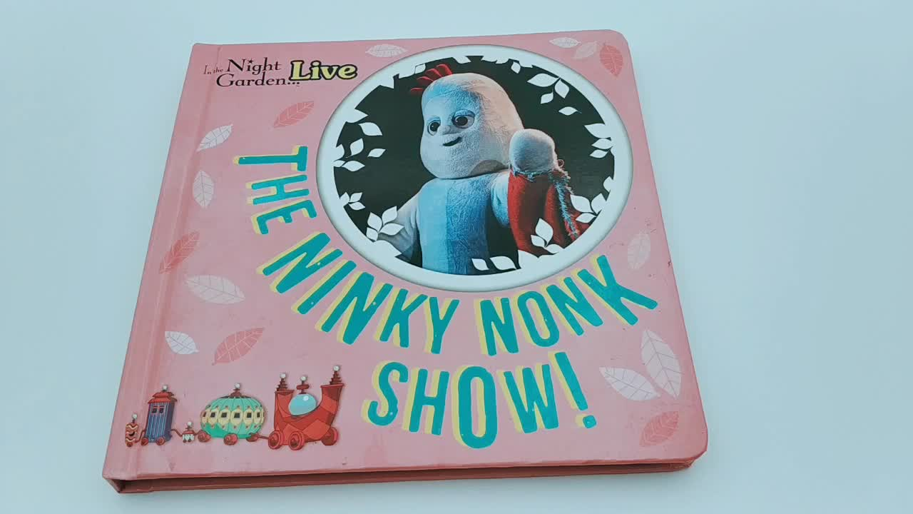 Hard cover english story printing children board book